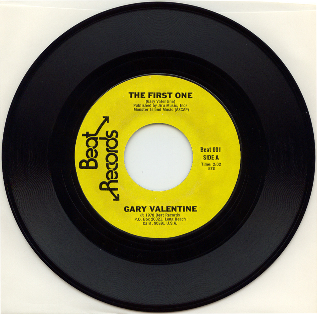 Gary Valentine – The First One 7? (1978) » gary valentine aside