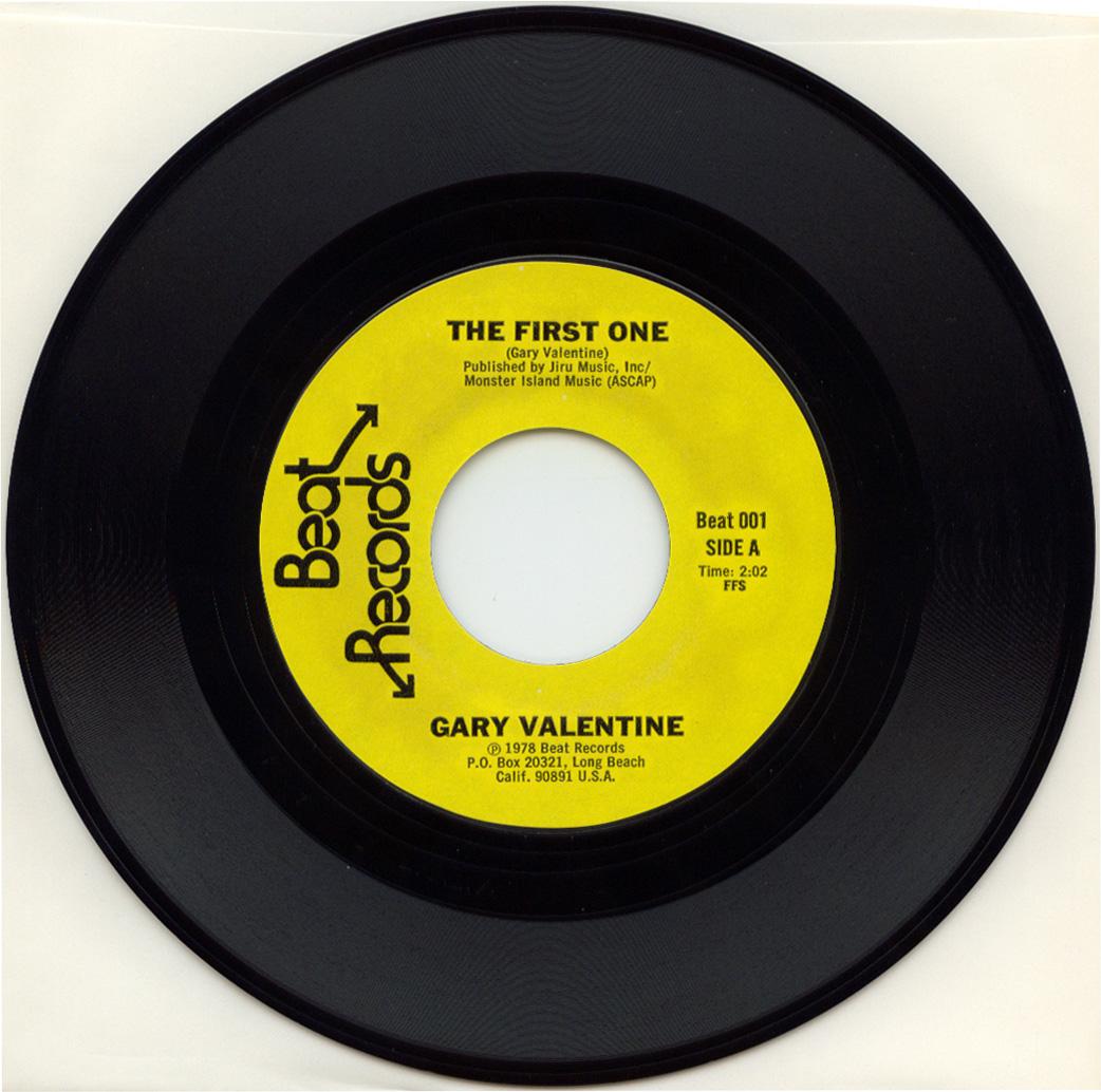 Gary Valentine – The First One 7? (1978) » gary valentine aside